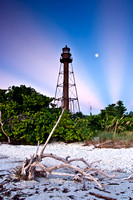 Sanibel Lighthouse, Anti-crepuscular Rays