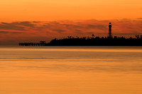 Sanibel Lighthouse, Golden Sky I