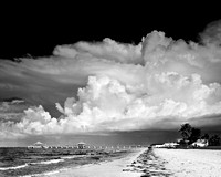 Fort Myers Beach Pier, Cumulus Clouds I
